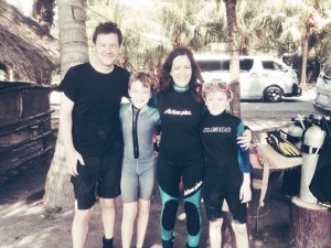 We spent the first week of 2015 with dear friends in General Santos City where Steve and the boys got certified in scuba.